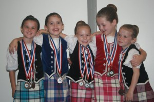 Primary dancers at the Pre-Premier Competition in Halifax-Chloe MacEachern, Kennedy MacDonald, Ava Rogers, Jenna Cleary and Sophie MacEachern